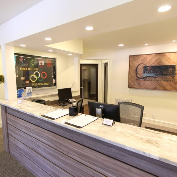 beautiful front desk area