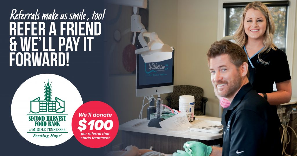 refer a friend to Witherow Orthodontics